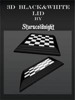 3D Black White Lids by StarsColdNight