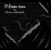 3D Cilinder stairs by StarsColdNight