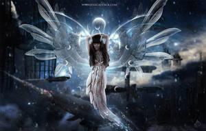 Cyber goddess by StarsColdNight