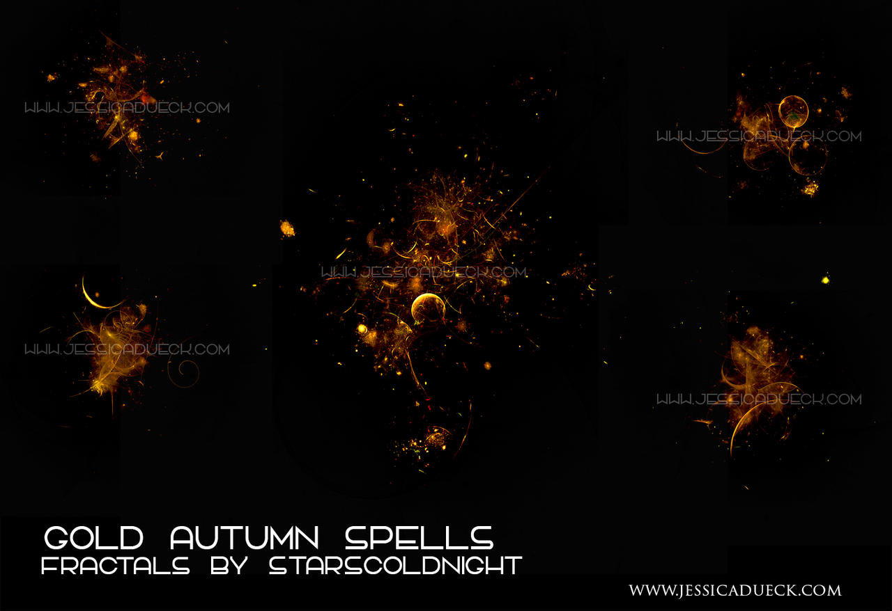 Gold Autumn spells  fractals by STARSCOLDNIGHT by StarsColdNight