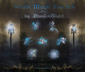 White Magic Fractals PNG by  StarsColdNight by StarsColdNight