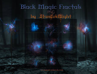 Black Magic Fractals PNG by  StarsColdNight