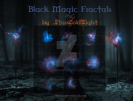 Black Magic Fractals PNG by  StarsColdNight