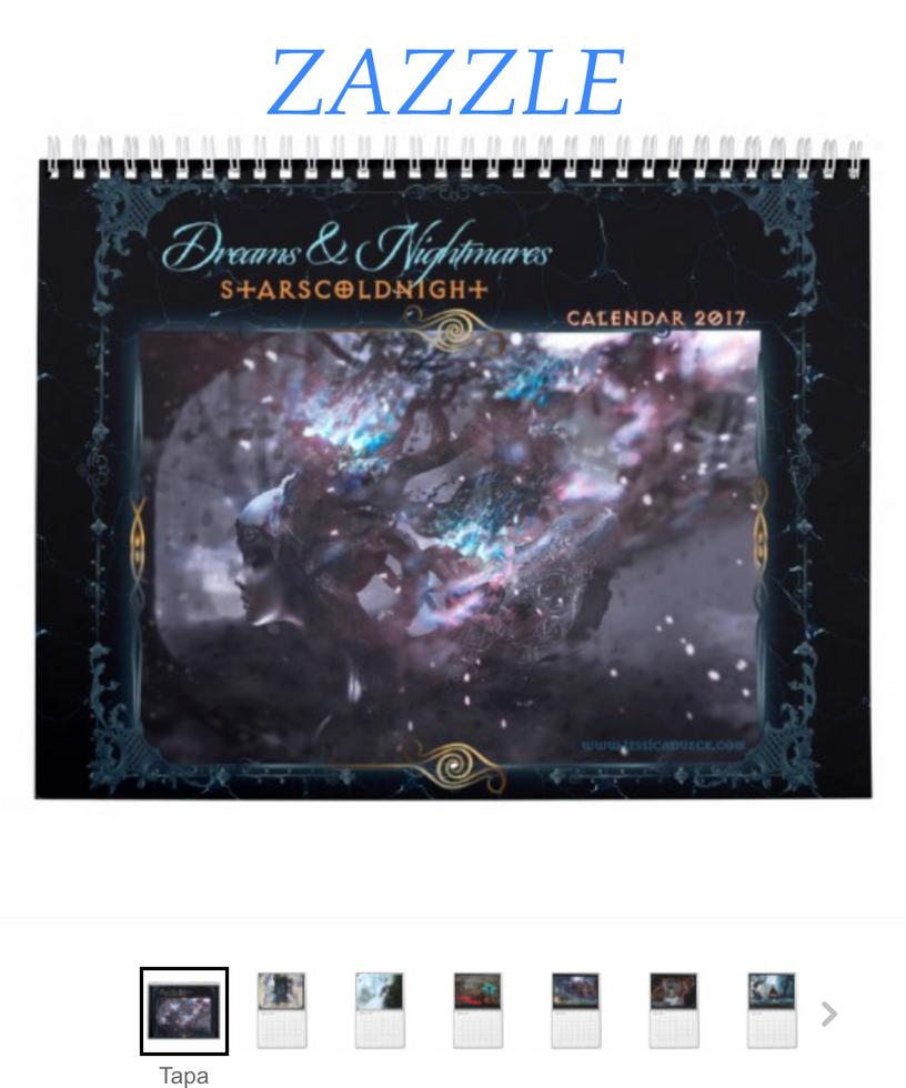 Zazzle store calendar 2017 by StarsColdNight