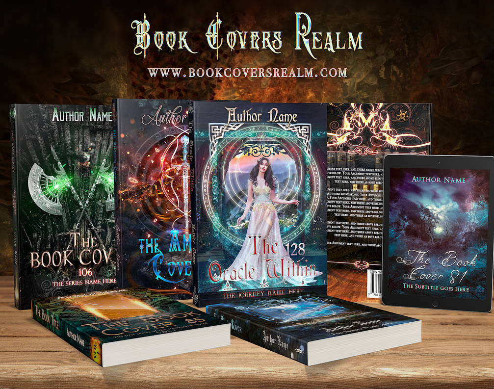 Fantasy Book Cover for sale by StarsColdNight