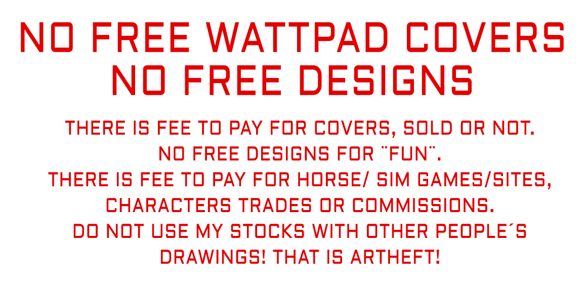 Wattpad covers are NOT FREE by StarsColdNight