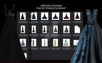 Dresses designs PNG files