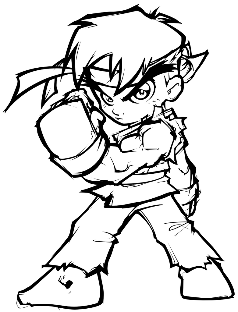 Greatlp 39 s mini hadoken inked by sircle on deviantart for Ryu coloring pages