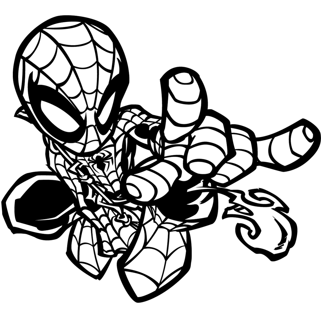 Greatlp 39 s chibi spider inks by sircle on deviantart for Crayola ultimate spiderman mini coloring pages