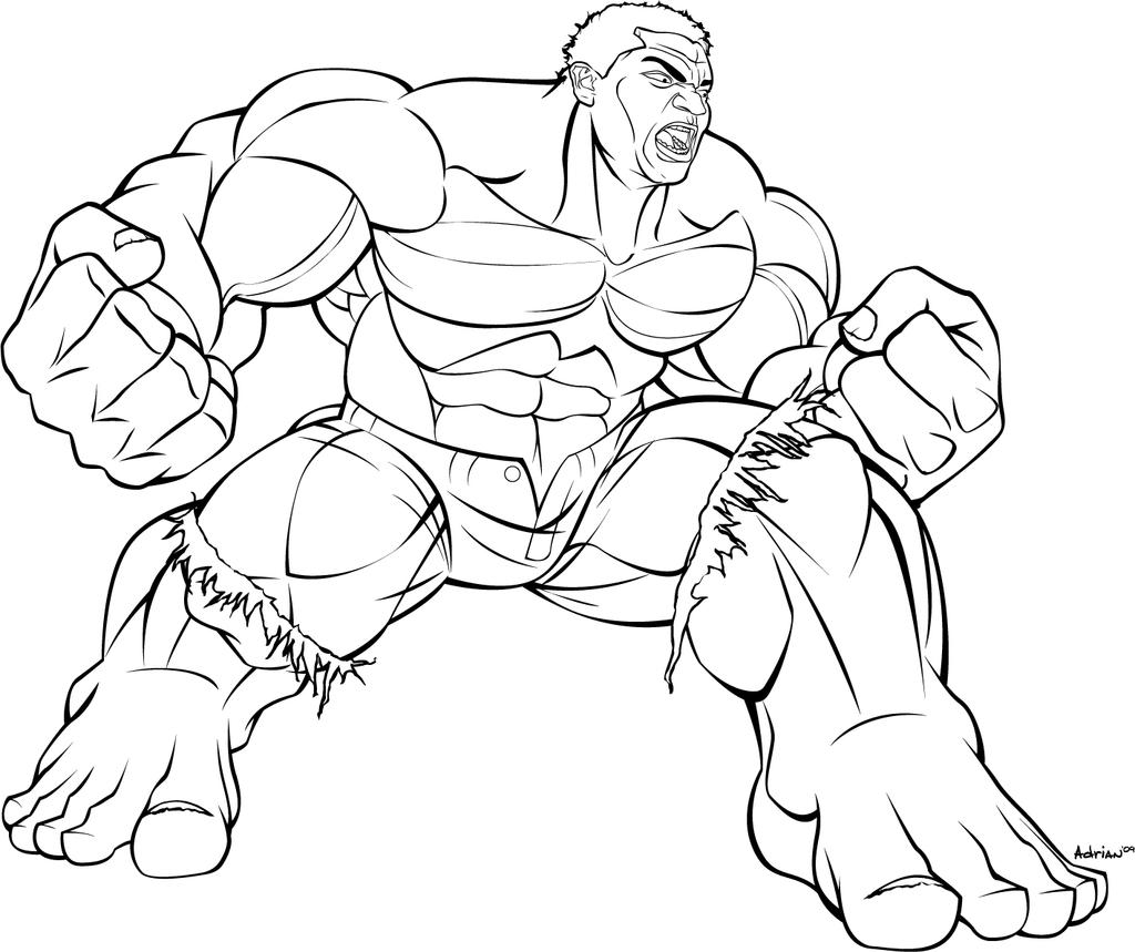 I 39 m the hulk b and w by sircle on deviantart for The hulk coloring pages
