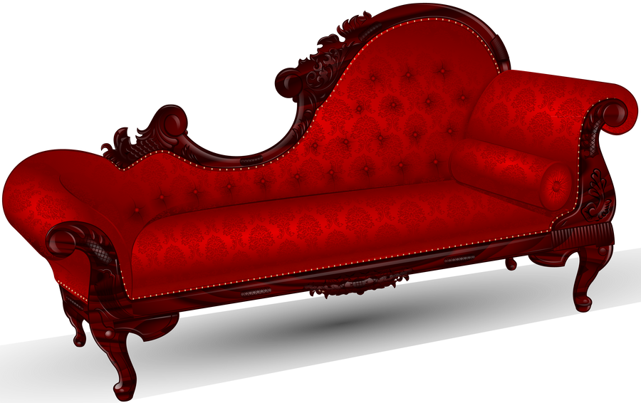 victorian fainting couch antique set