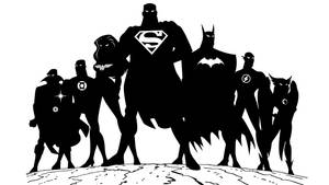 Justice League Silohuette by sircle