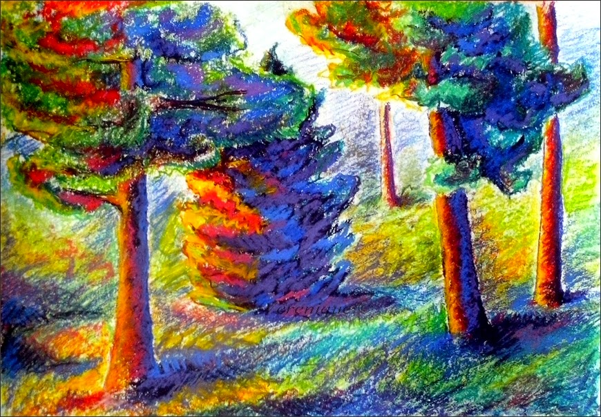 Plein air drawing by Verenique