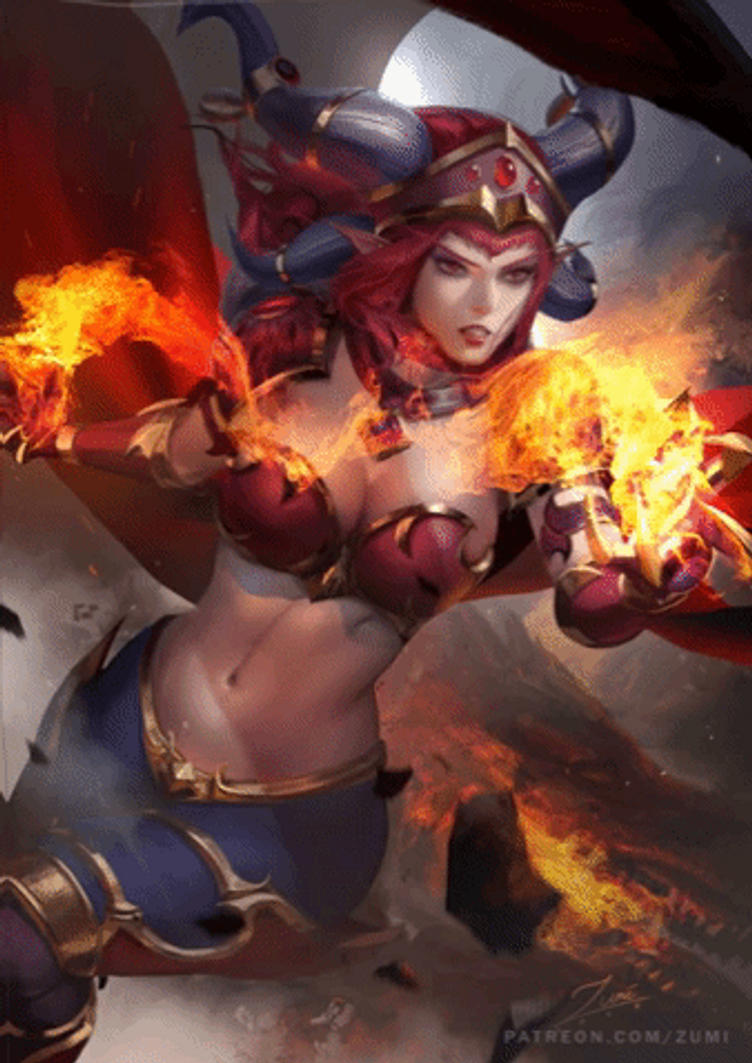 Alexstrasza - Animated Version by TimTaller