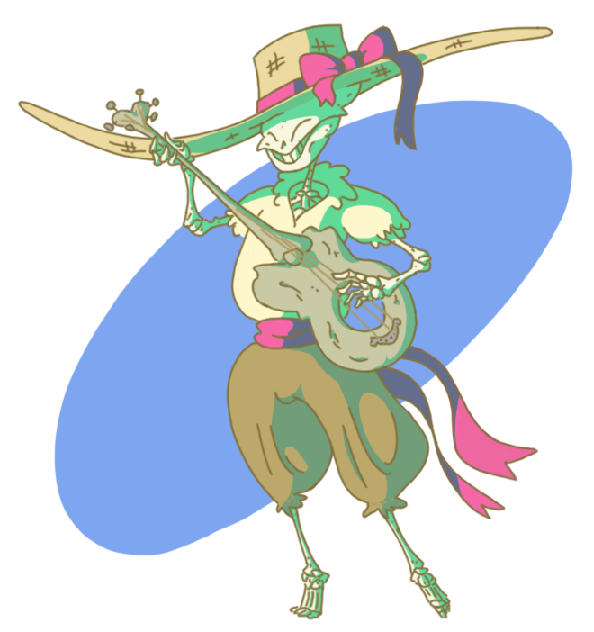 Skeleton bard by Bigbrain446