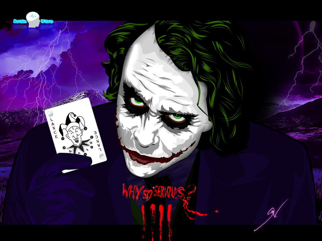 Joker Heath Ledger Vector By Brainwavedesigns On Deviantart
