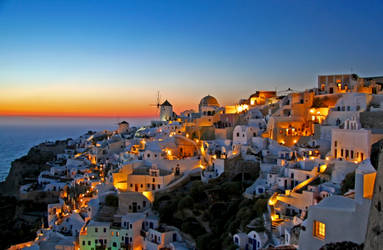 Santorini After the Sunset by LeighWhittaker