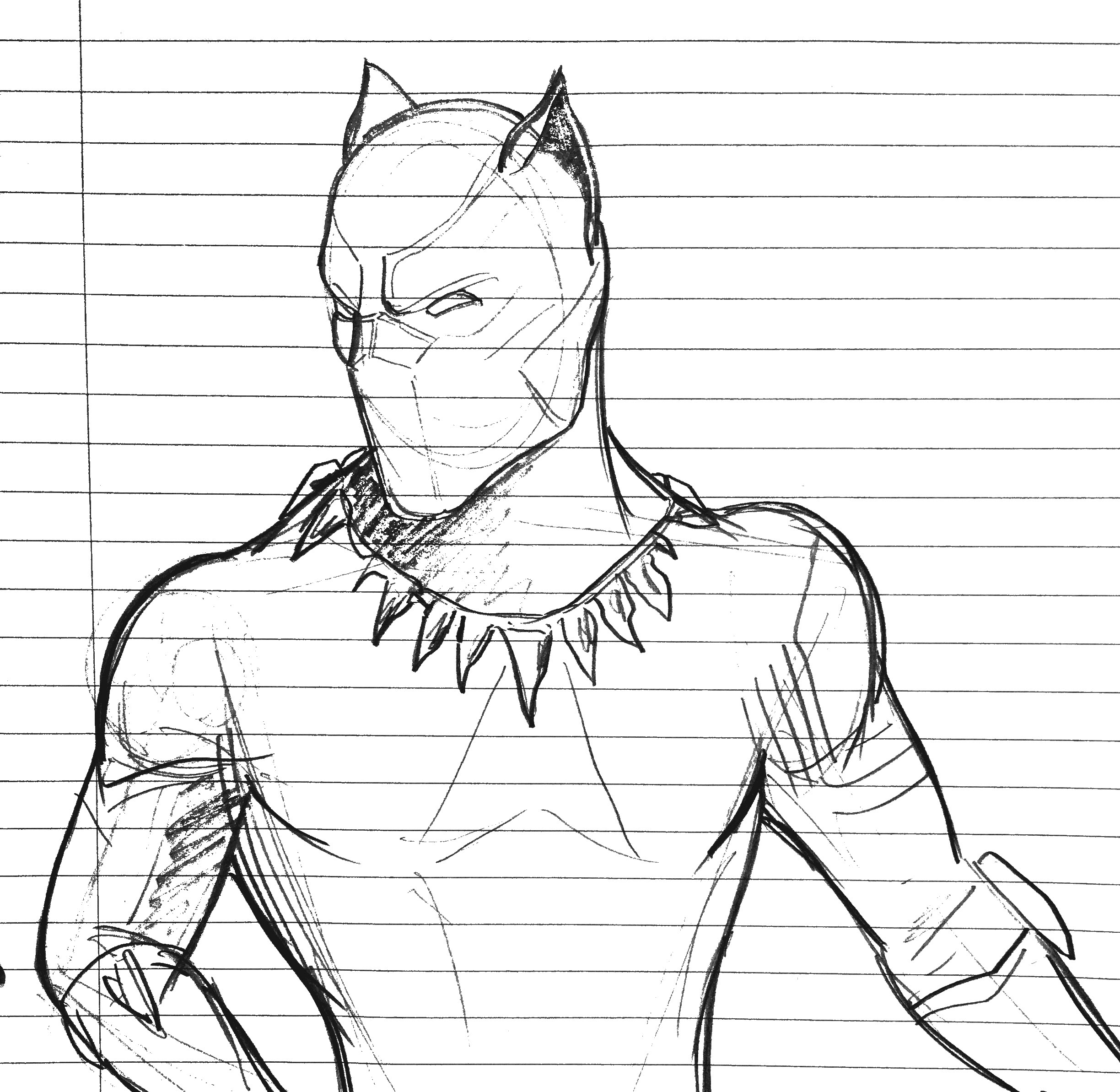 Black Panther Sketch By Jhartdrawings On DeviantArt