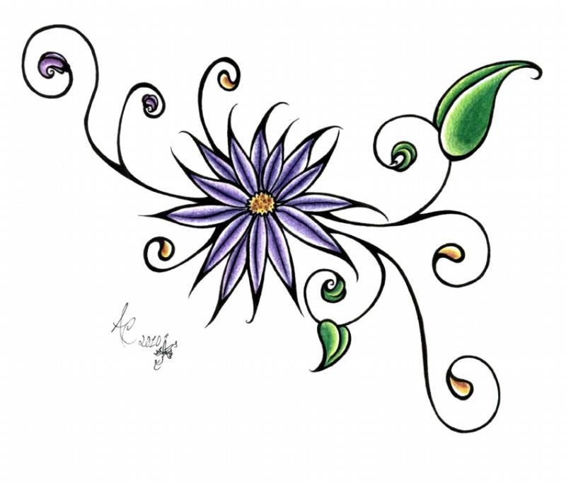 Simple Shoulder Flower Tattoo by ApocalypseAvengerSimple Tribal Flower Tattoos