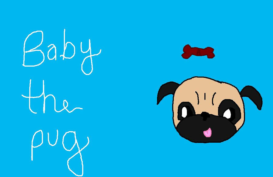 Baby the Pug(dog) by babybee1