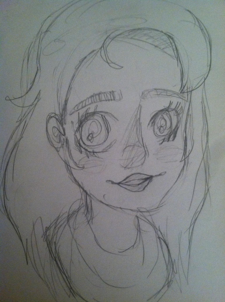 Sketch of me different style by babybee1