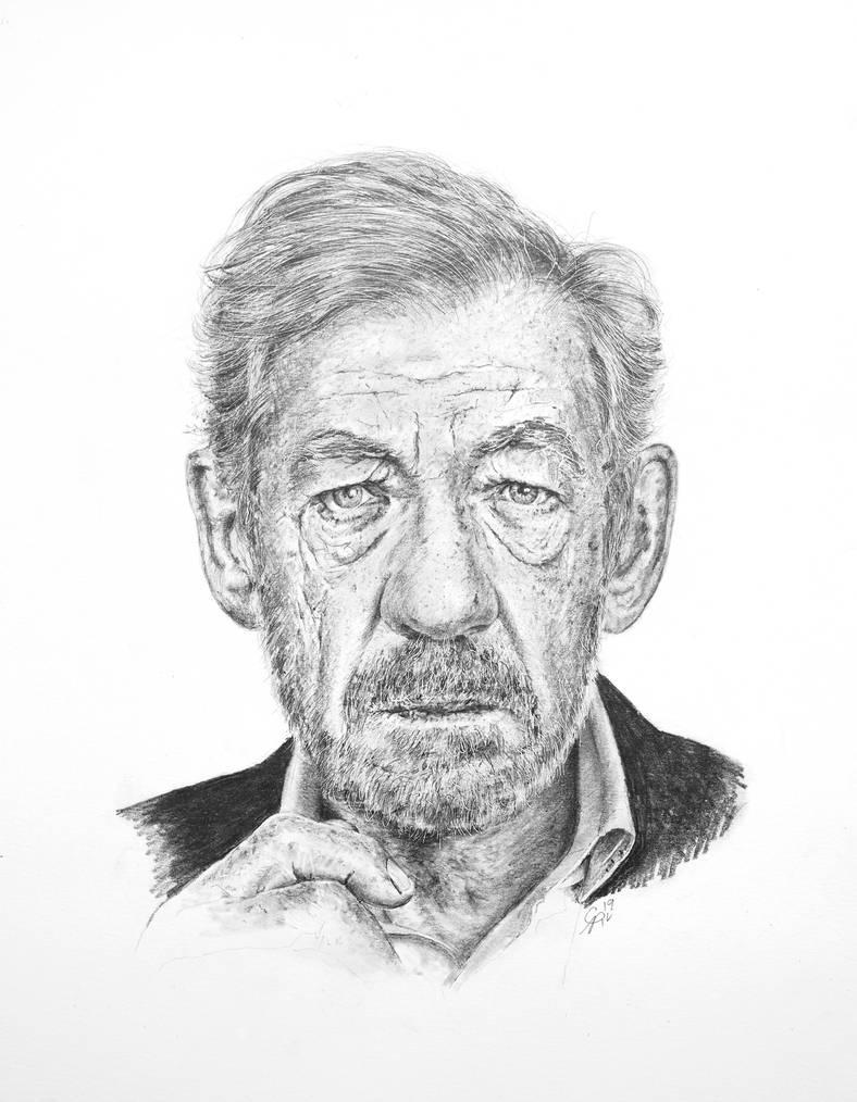 Sir Ian McKellen by CarlSyres