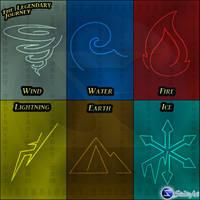 Elemental Symbols by JFStudioArt