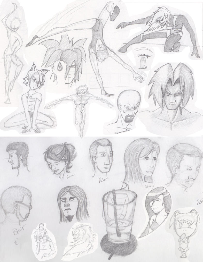 July'14 Sketches by JFStudioArt