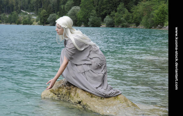 Lake Woman 1 by Kuoma-stock
