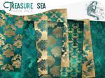 Treasure Sea - Damask paper pack by MoonlightCreationsFr