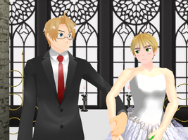 USUK - Wedding by ArthurKirklandIggy