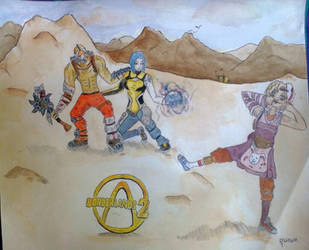 Borderlands 2 : Krieg, Maya and Tiny Tina :) by Manoon-Nicetuna