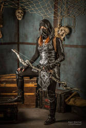 Nightingale Armor cosplay from Skyrim by Manoon-Nicetuna