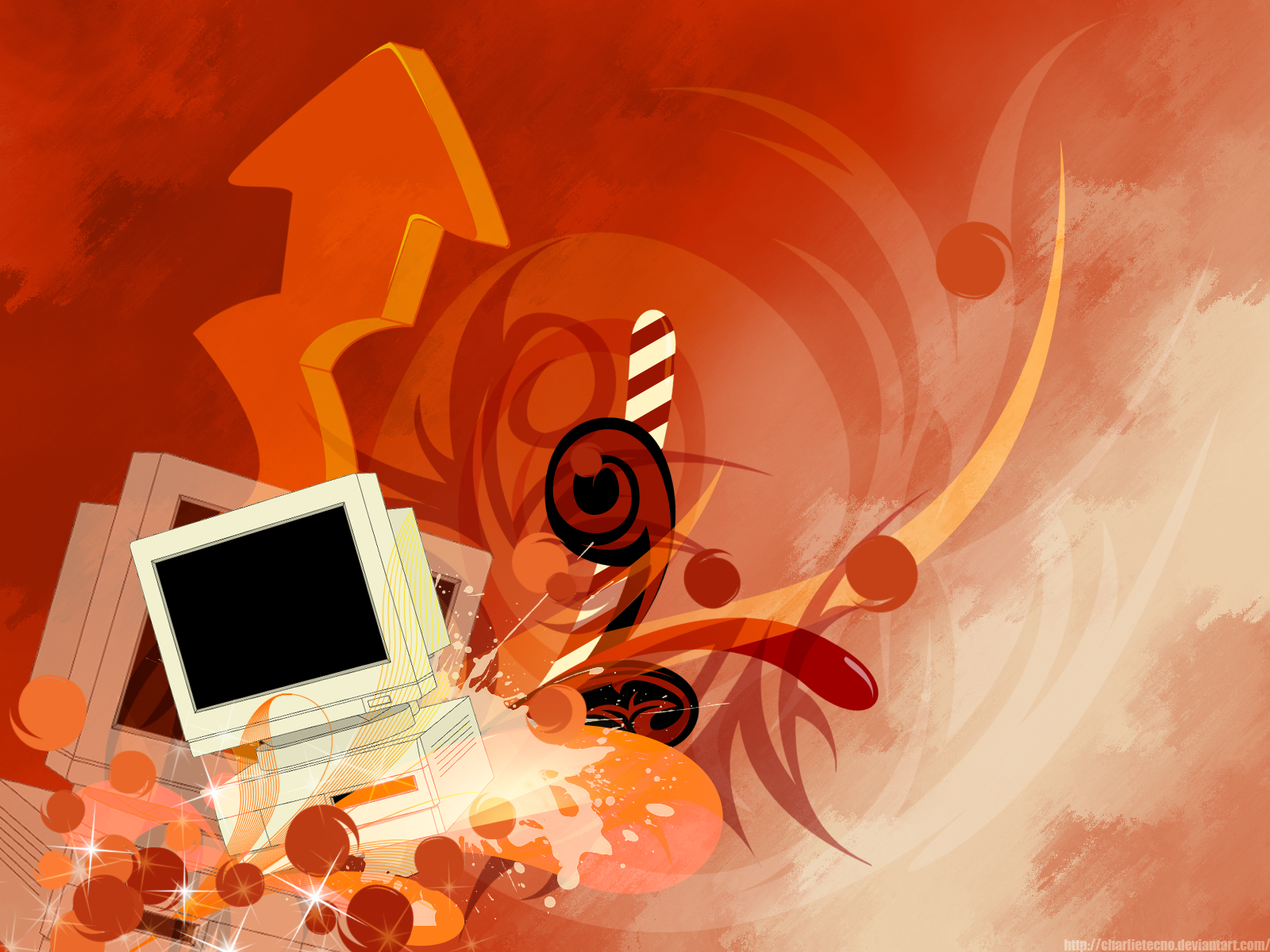 Mac Old PC Vector Wallpaper by charlietecno