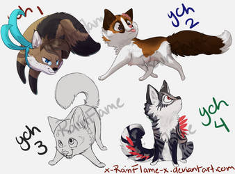 Chibi YCHs- OPEN! (1/4) by x-RainFlame-x