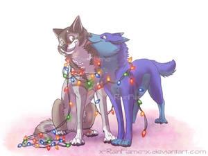 Christmas YCH- AlaskaWolf