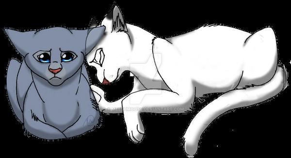bluefur and snowfur by meeshmoose