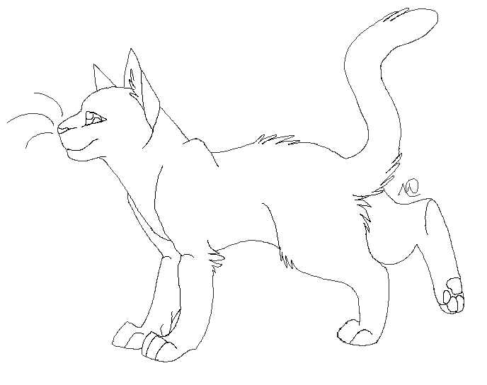 Standing Cat Lineart By Meeshmoose On DeviantArt