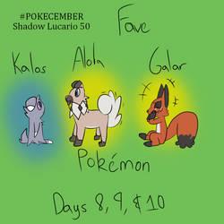 PokeCember Day 8-10:Fave Kalos/Alola/Galar Pokemon