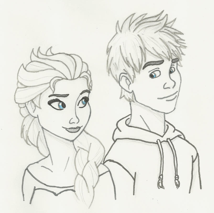 Coloring Pages Jack Frost Elsa Sketch Page