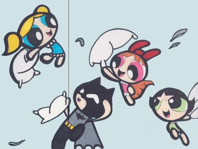 Powerpuff girls buttercup and blossom