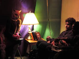 Cat Therapy by JackieBelonzo