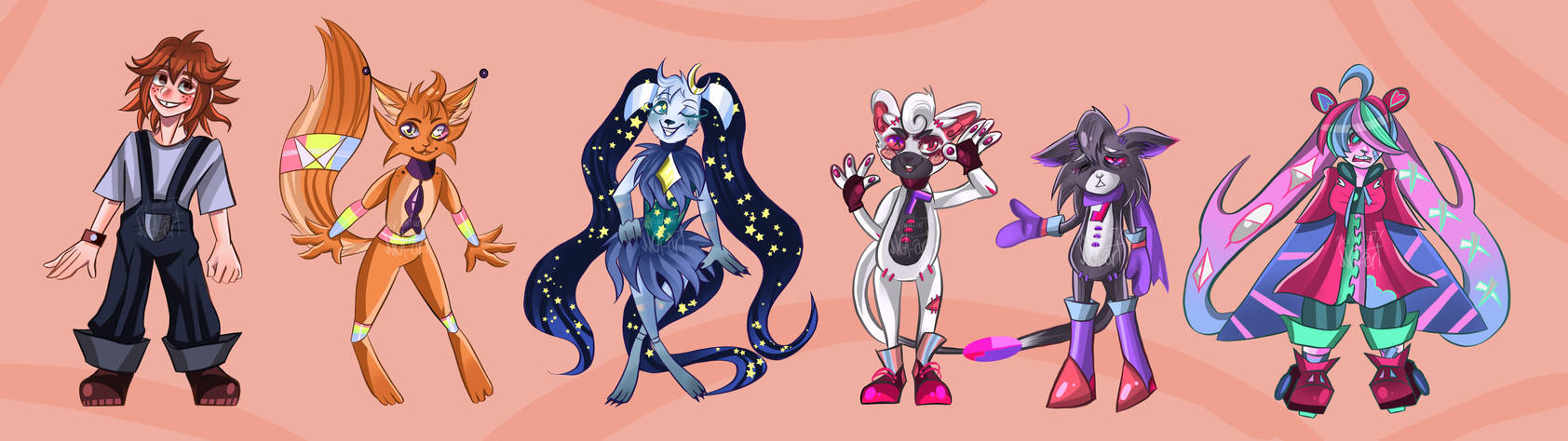 Hideaway characters 1/3