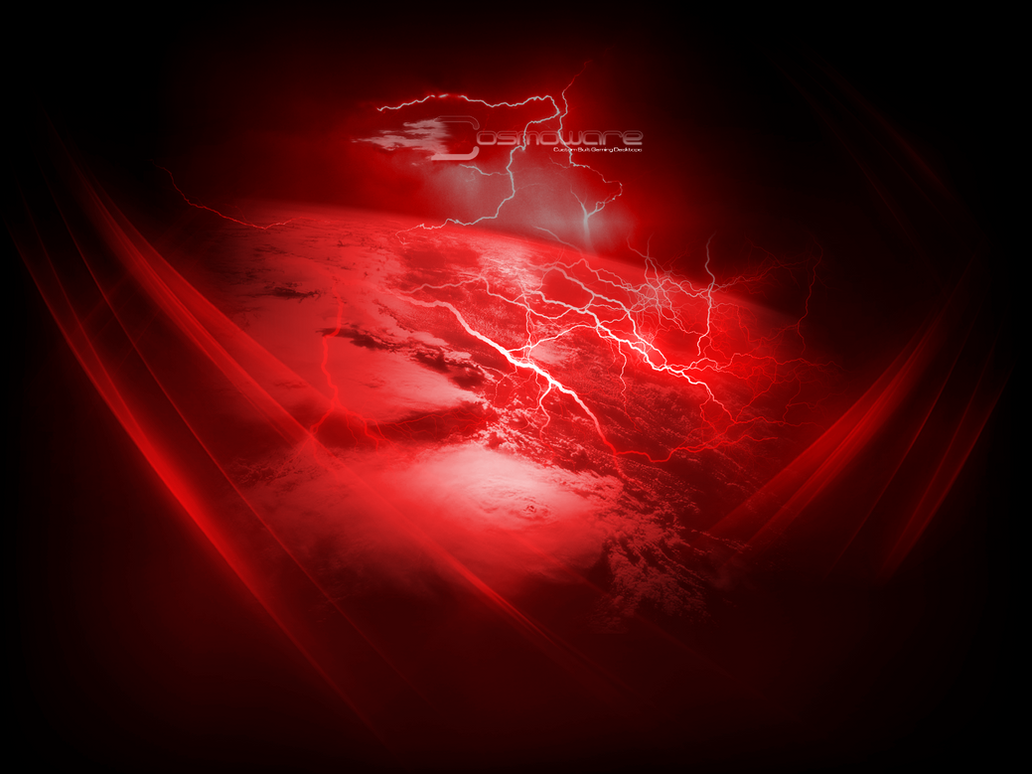 Cosmoware Red Lightning Storm By Design
