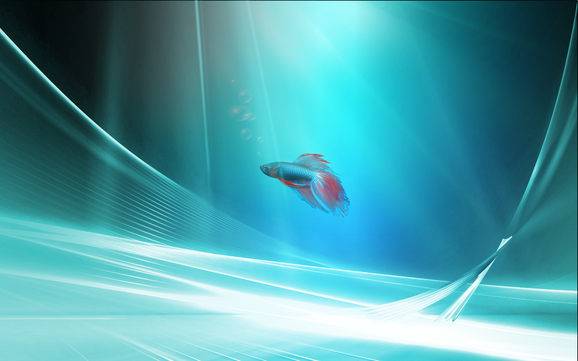 Windows 7 fish2 wallpaper by cosmoware design on deviantart for Architecture wallpaper windows 7
