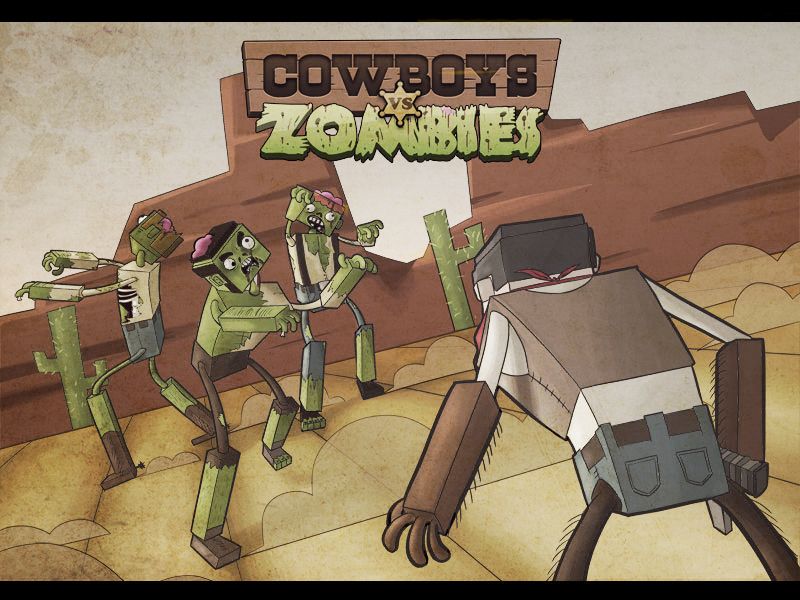 Cowboys vs Zombies by Krypton-Arts