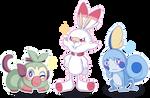 Galar's starters - Pokemon