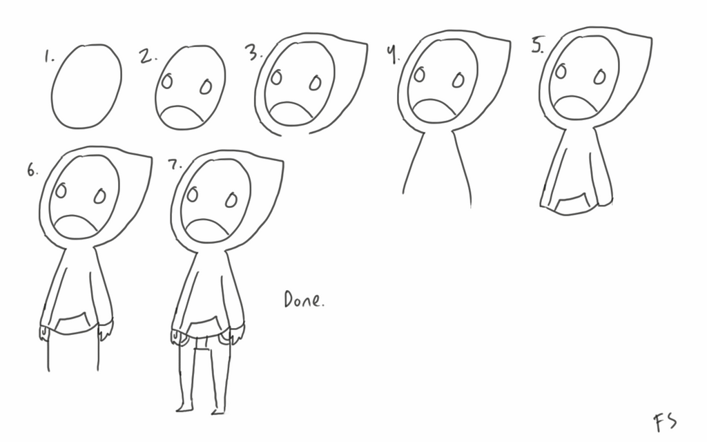 how to draw hoody by SnakiePoo