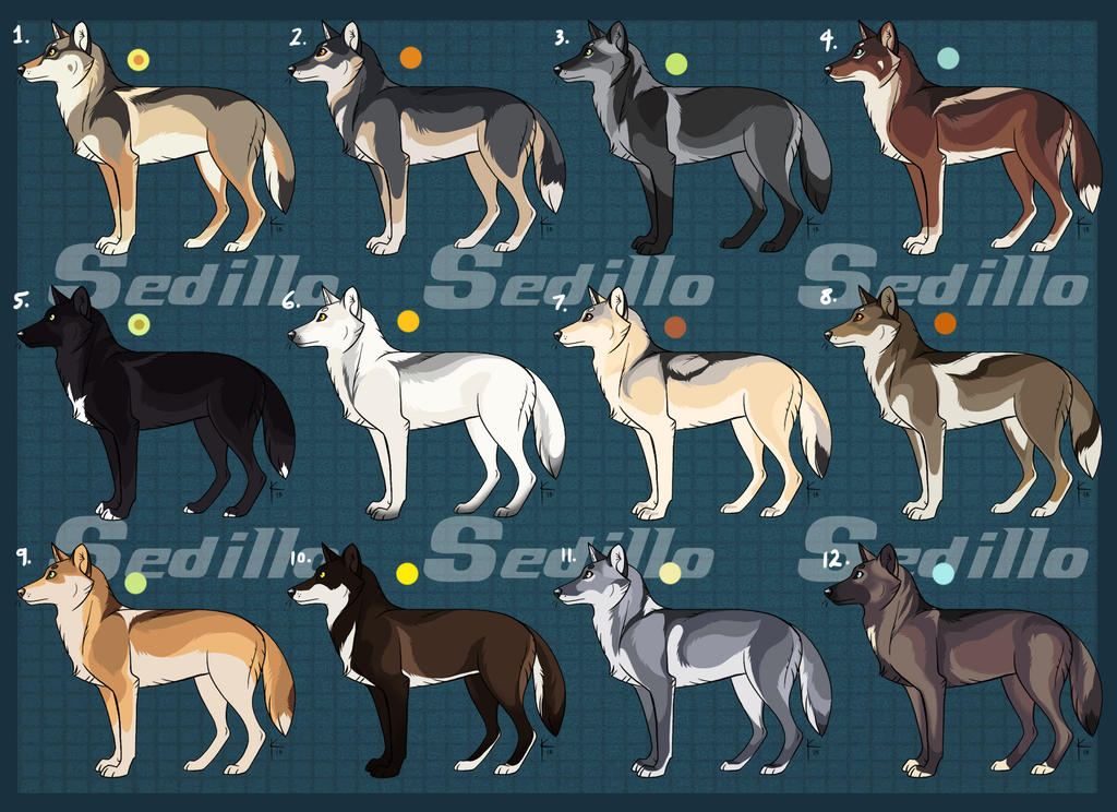 Natural Wolf Adoptables: On Hold! by Sedillio