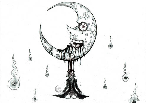 Moon [Soul Eater] - Inktober 21
